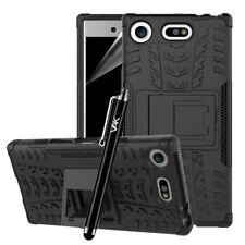 Sony Xperia XZ1 Compact Case,Black Hard Back Heavy Duty Tough ShockProof Case