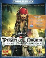 Pirati Dei Caraibi Oltre i Confini del Mondo DVD Blu Ray E-Copy Slipcase NEW N
