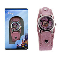 Watch Disney MINNIE MOUSE Pink Analog Wrist Watch Band Girls Children Gift