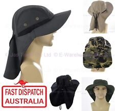 NECK BACK FLAP COVER LEGION LEGIONNAIRE Work Fishing SUN HAT Men Women WIDE BRIM