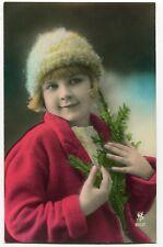 CPA - Carte Postale - Fantaisie - Enfant - Bonnet - Sapin - (C8629)