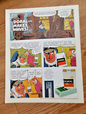 1971 Doral Cigarette Ad  Doral Makes Waves Pirate Parrot Theme