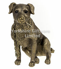 Sitting Jack Russell Terrier Dog Ornament Bronze Walkies The Leonardo Collection