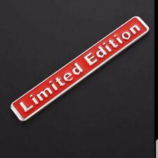 Limited Edition 3d chrom metall auto Aufkleber emblem abzeichen ...Silber/Rot