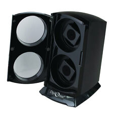Automatic Double Dual Watch Winder Tower Carbon Fiber Gloss black