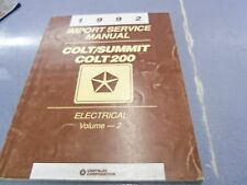 1992 Colt Summit Colt 200 Electrical Dealer Manual Volume 2 FREE Shipping!!