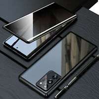 For Samsung Galaxy Note 20 S20 S21 360° Magnetic Double-Sided Glass Case Cover
