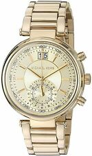 Women's Michael Kors Sawyer Gold Steel Chronograph Watch MK6362