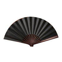 Folding Fan Chinese Style Folded Fans Spun Silk Bamboo Hand Held Props 33cm