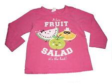 H & M tolles Langarm Shirt Gr. 74 rosa mit Früchte Motiven !!