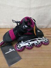 K2 Alexis 80 ALU Womens Inline Skates 2020 Black-Berry US Size 8