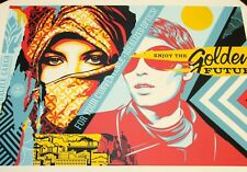 Obey Giant Shepard Fairey Golden Future Large Format Urban Art Print Poster