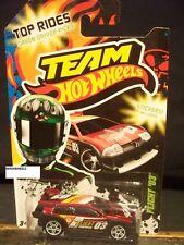 HOT WHEELS 2012 #27 TEAM HW TOP RIDES FLIGHT 03 RED GREEN DRIVER