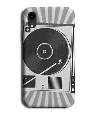 Retro Vinyl Record Player Cartoon Design Phone Cover Case Mens Grey White J282