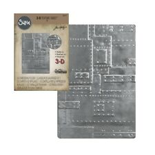 3D embossing folder Foundry Metal Plates Rivets Tim Holtz Sizzix folders 662717