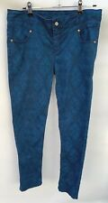 Mambo Womens Stretch Denim Jeans Size 14 Blue Patterned Fast Postage