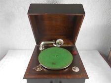 """Grammophone / Tischgrammophon & 41 Schellackplatten """" Alhambra """" um 1930"""