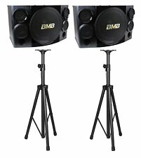 "BMB CSE-310 500W 10"" 3-Way Speakers  with Speaker Stands Combo"