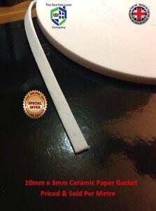 10MM x 3MM Woodburner Woodburning Stove Glass Seal Flat foam Tape Fire Gasket