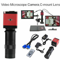 14MP HDMI Digital Industrielle Mikroskop Lupe Kamera Video C-Port Zoom Linse
