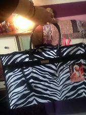 Da PARIS HILTON ZEBRA SHOPPER GRANDE fine settimana Tote Nuovo Donna Designer Handbag