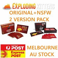 Exploding Kittens Original + NSFW 2 Deck Value Pack Games Cards MELBOURNE STOCK
