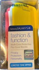 Samsung Galaxy S3 SIII Multi Color Protective Flip Cover Bundle New In Box
