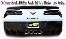 2014-2019 C7 Corvette Rear Tail Light Blackouts Lens Kit Taillight Smoked MOLDED