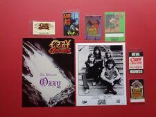 OZZY OSBOURNE,promo photo,6 Backstage passes,Backstage Door sign,Various Tours