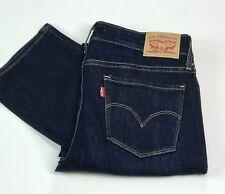Levi's Ladies 714 Straight Fit Blue Jeans