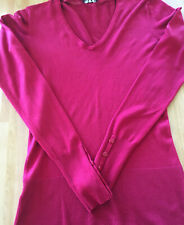 Pre-Loved Ladies Long Tall Sally Red V Neck Long Sleeved Jumper Size XS