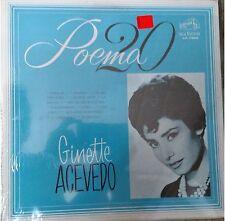 RARE balada 60's 70's 80's LP GINETTE AVECEDO poema 20 SI TE VAS PARA CHILE