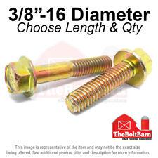 38 16 Grade 8 Hex Flange Screws Frame Bolts Zinc Yellow Pick Length Amp Qty