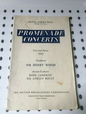 More details for royal albert hall - bbc promenade concerts, forty-ninth season june to aug 1943