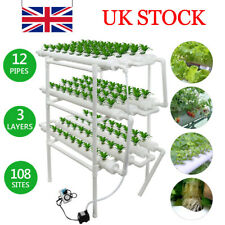 108 Hole Plant Hydroponic System Grow Kit Nursery Pots Anti Pest Plant 220V UK