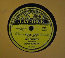 LISTEN MP3 R&B 78 The Crickets Dean Barlow Jay Dee 785 Changing Partners