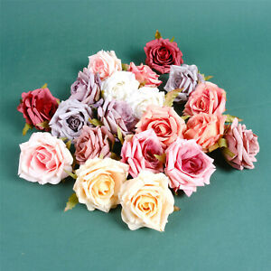 7cm Silk Artificial Rose Flower Heads Fake Flower Head Wedding Home Decoration