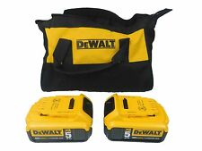 New Dewalt DCCB205 20V MAX Lithium-Ion Premium Battery 2 Pack 5.0Ah with bag