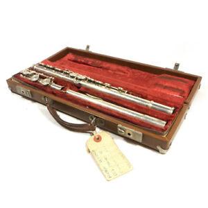 Vintage Artley #695 ELKHART Flute w/ Case RARE