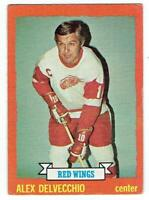 ALEX DELVECCHIO Red Wings ~ 1973-74 Topps ~ FREE SHIPPING