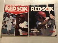 1976 BOSTON RED SOX Yearbook FRED LYNN Carl YASTRZEMSKI Both Editions TEAM PHOTO