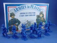 ARMIES IN PLASTIC Civil War Toy Soldiers Union Iron Brigade 20 BOXED FREE SHIP
