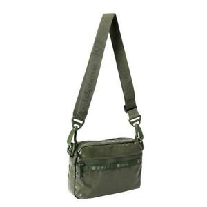 LeSportsac Solid Collection Convertible Crossbody Belt Bag in Shiny Willow NWT