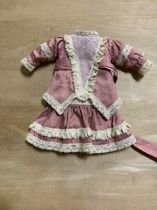 "Lovely Rose Pink Two Piece Outfit For Reproduction  11"" Bleuette Doll"