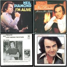 NEIL DIAMOND 3 HOLLAND 45 w/PICTURE SLEEVES PRIMITIVE + I'M ALIVE + MORNING HAS
