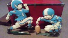 Vintage 1976 Homco cast iron football figurines boys room Indianapolis Colts