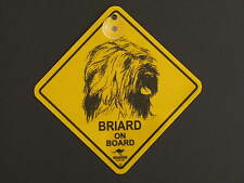 Briard On Board Dog Breed Yellow Car Swing Sign Gift