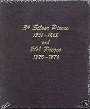 DANSCO 3 Cent Silver Pieces 1851-1862 & 20 Cent Pieces 1875-1876 Album #6109