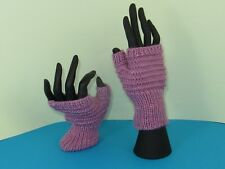 PRINTED INSTRUCTIONS- SIMPLE STRIPEY FINGERLESS GLOVES KNITTING PATTERN