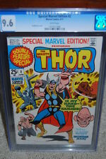 Special Marvel Edition #2 CGC 9.6 1971 Thor! Double Sized! WP B12 1 178 cm clean